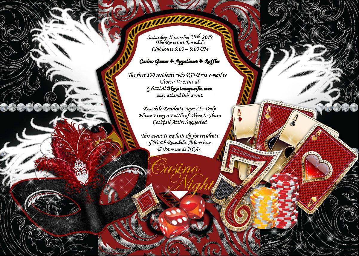 Casino Night at Rosedale on 11/02